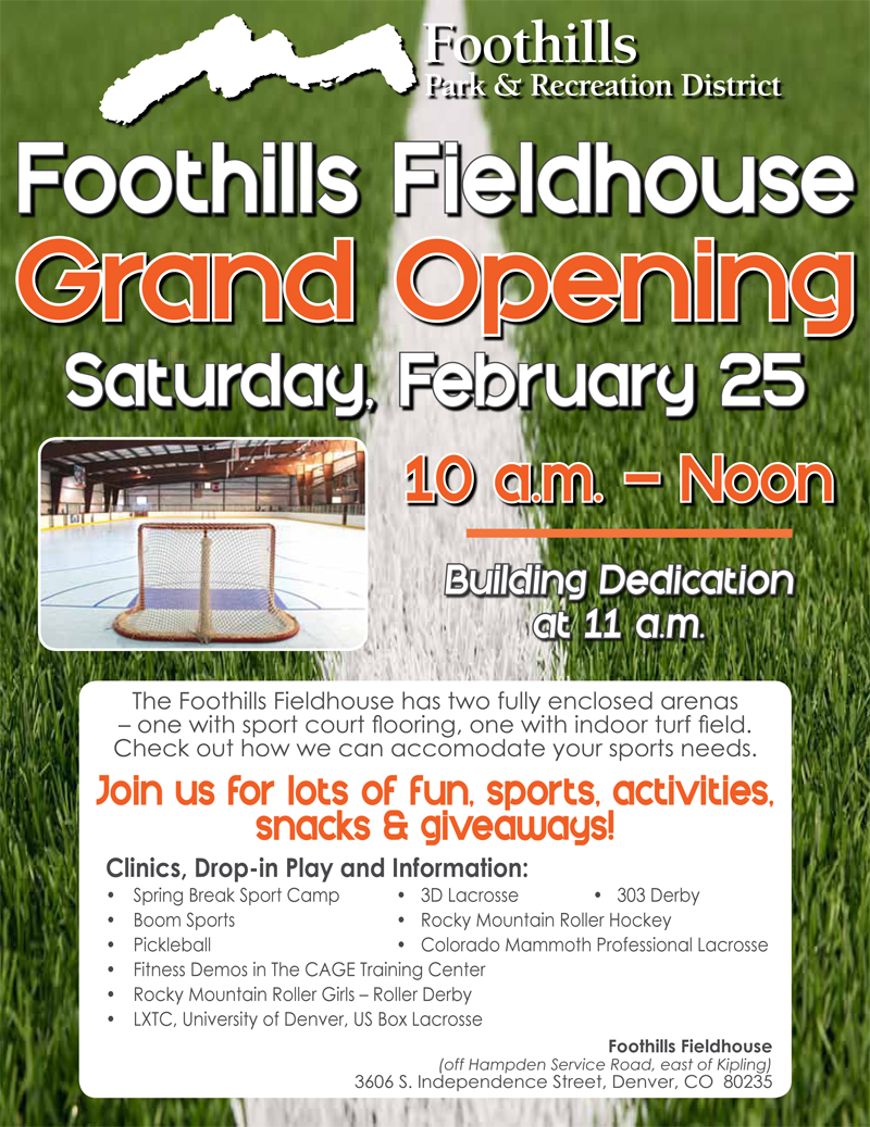 Foothills Fieldhouse Grand Opening
